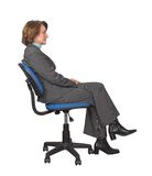 Business woman on an office chair Royalty Free Stock Photography