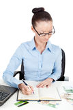 Business woman at office desk Stock Image