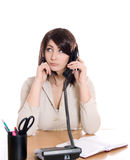 Business woman at office desk Royalty Free Stock Images