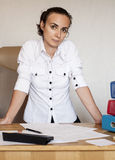 Business woman at the office Royalty Free Stock Photos