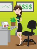 Business Woman / illustration Stock Images