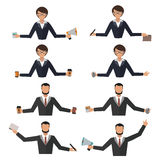 Business woman office job stress work vector illustration man person manager character Royalty Free Stock Photo