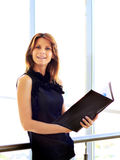 Business woman in the office royalty free stock photo