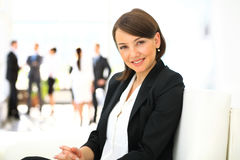 Business woman in the office Royalty Free Stock Images