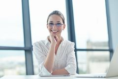 Business woman at  office Stock Photography
