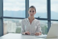 Business woman at  office Royalty Free Stock Images