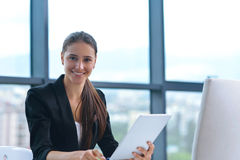 Business woman at  office Royalty Free Stock Photos
