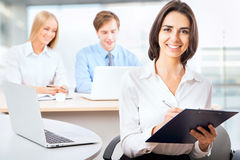 Business woman at office Stock Images