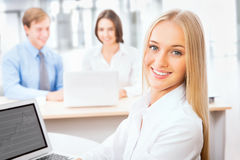 Business woman at office Royalty Free Stock Photo