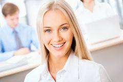 Business woman at office Royalty Free Stock Photography