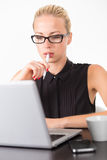 Business woman in office. Royalty Free Stock Image