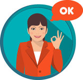 Business woman ok Royalty Free Stock Photography