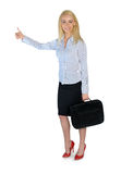Business woman ok sign Royalty Free Stock Photography