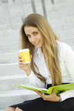 Business Woman On A Break Royalty Free Stock Photos
