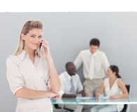 Free Business Woman On The Phone Stock Image - 9098601