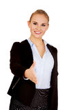 Business woman with an open hand ready for handshake Royalty Free Stock Photo