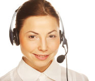 business woman operator Stock Image
