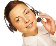 Business woman operator Stock Photography