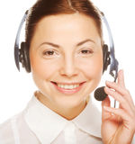 Business woman operator Royalty Free Stock Photos