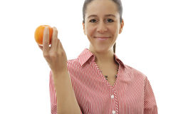 Business Woman with an Orange Stock Photos