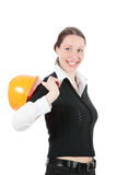 Business Woman Ordering Employees Stock Image