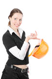 Business Woman Ordering Employees Royalty Free Stock Photography