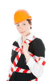 Business Woman Ordering Employees Stock Photo