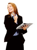 Business woman with organizer Royalty Free Stock Photo
