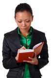Business woman with organizer Stock Photography