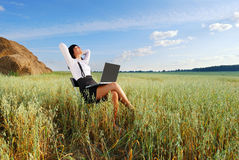Business Woman Outdoor Stock Photo