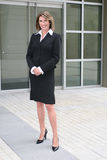 Business Woman Outdoors on Cell Phone Royalty Free Stock Photos