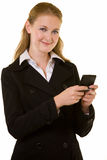 Business woman paging Stock Images