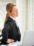 Business woman with pain Stock Photos