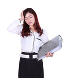 Business woman with pain stock photography