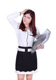 Business woman with pain Royalty Free Stock Photo