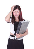 Business woman with pain Stock Photo