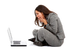 Business woman in panic Stock Image