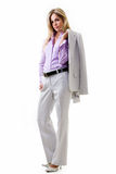 Business woman in pant suit Royalty Free Stock Photos
