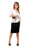 Business woman with paper Royalty Free Stock Images