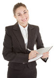 Business woman with papers Royalty Free Stock Photo