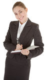 Business woman with papers Stock Image