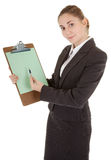 Business woman with papers Stock Images