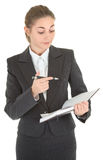 Business woman with papers Royalty Free Stock Photography