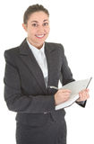 Business woman with papers Royalty Free Stock Photos