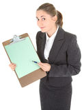 Business woman with papers Stock Photos