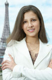 Business woman in paris Stock Images
