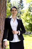 Business woman in park Stock Photos