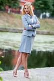 Business woman in the park Stock Photos