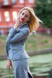 Business woman in the park Royalty Free Stock Photos