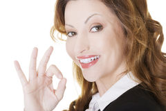 Business woman with perfect gesture Stock Photos